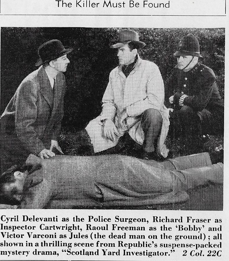 Cyril Delevanti, Richard Fraser, and Victor Varconi in Scotland Yard Investigator (1945)