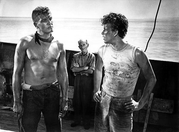 Horst Buchholz and Helmut Schmid in Das Totenschiff (1959)