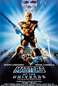 Dolph Lundgren, Robert Duncan McNeill, and Courteney Cox in Masters of the Universe (1987)