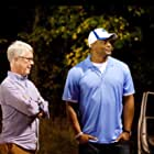 Ken Carpenter and Eddie George on the set of RUN THE RACE.