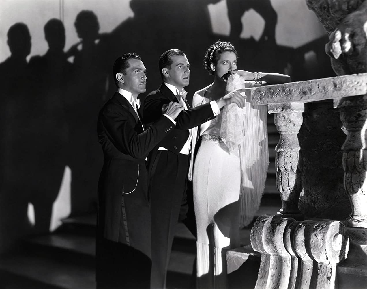 Katharine Alexander, G.P. Huntley, and Kent Taylor in Death Takes a Holiday (1934)