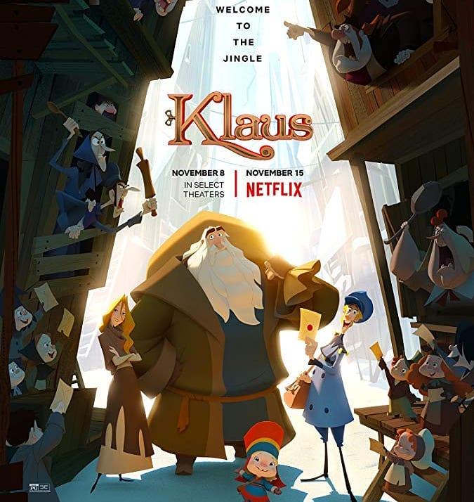 Jason Schwartzman, Rashida Jones, Will Sasso, J.K. Simmons, and Neda Margrethe Labba in Klaus (2019)