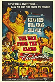 Glenn Ford, Julie Adams, and Chill Wills in The Man from the Alamo (1953)