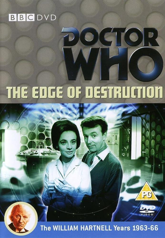 Copertina dell'edizione in DVD del serial. In primo piano, i due professori