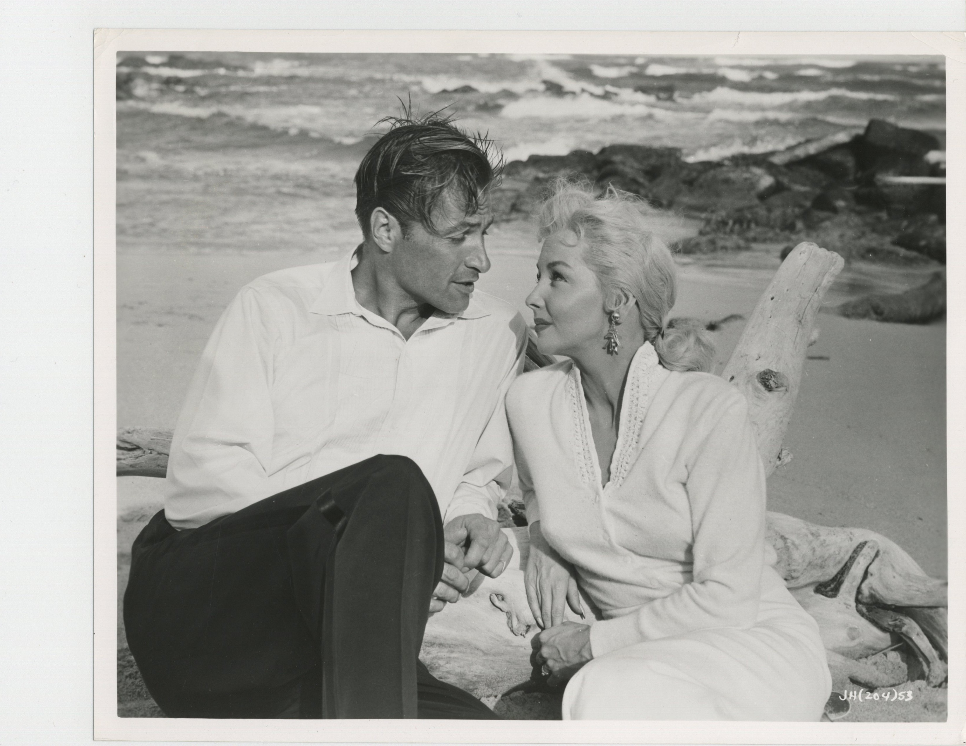 Lex Barker and Mari Blanchard in Jungle Heat (1957)