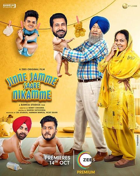 Jinne Jamme Saare Nikamme 2021 Punjabi Full Movie 480p ZEE5 HDRip ESubs 400MB Download