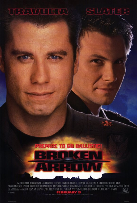 Christian Slater and John Travolta in Broken Arrow (1996)