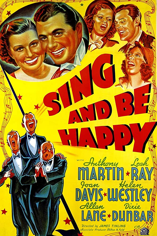 Joan Davis, Dixie Dunbar, Allan Lane, Tony Martin, Leah Ray, and Helen Westley in Sing and Be Happy (1937)