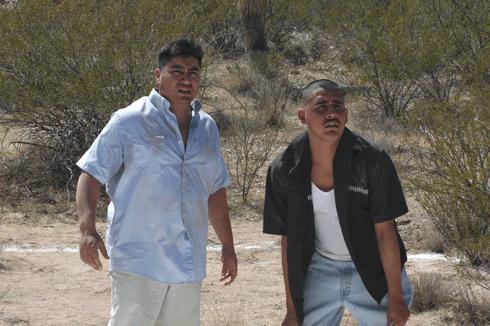 Richard Azurdia with Miguel Castro in AMERICA 101.