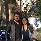 With Karl Urban during the shooting of 'Bent' in Rome.