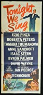 Tonight We Sing (1953) Poster