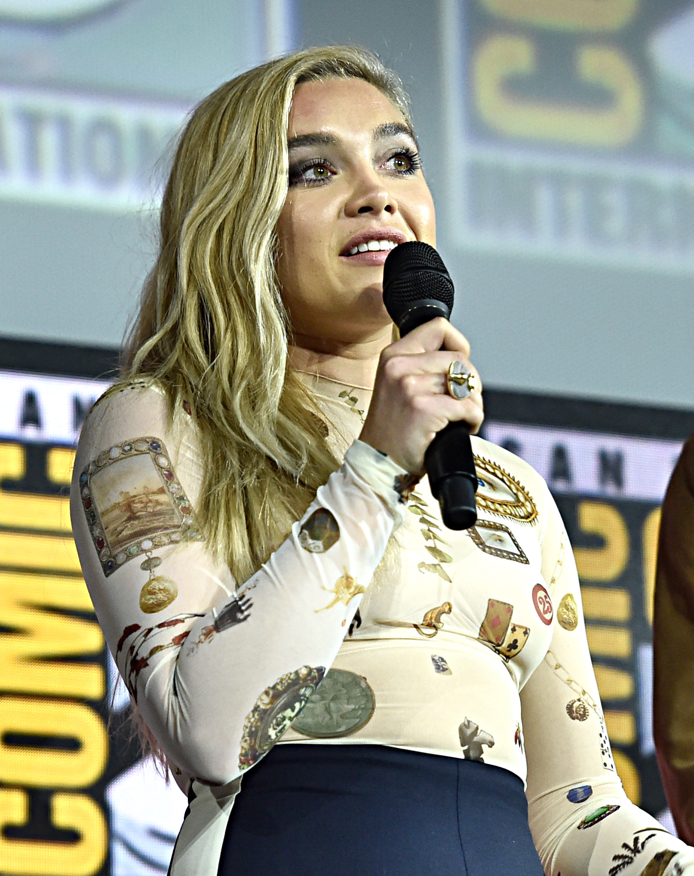 Florence Pugh at an event for Black Widow (2021)