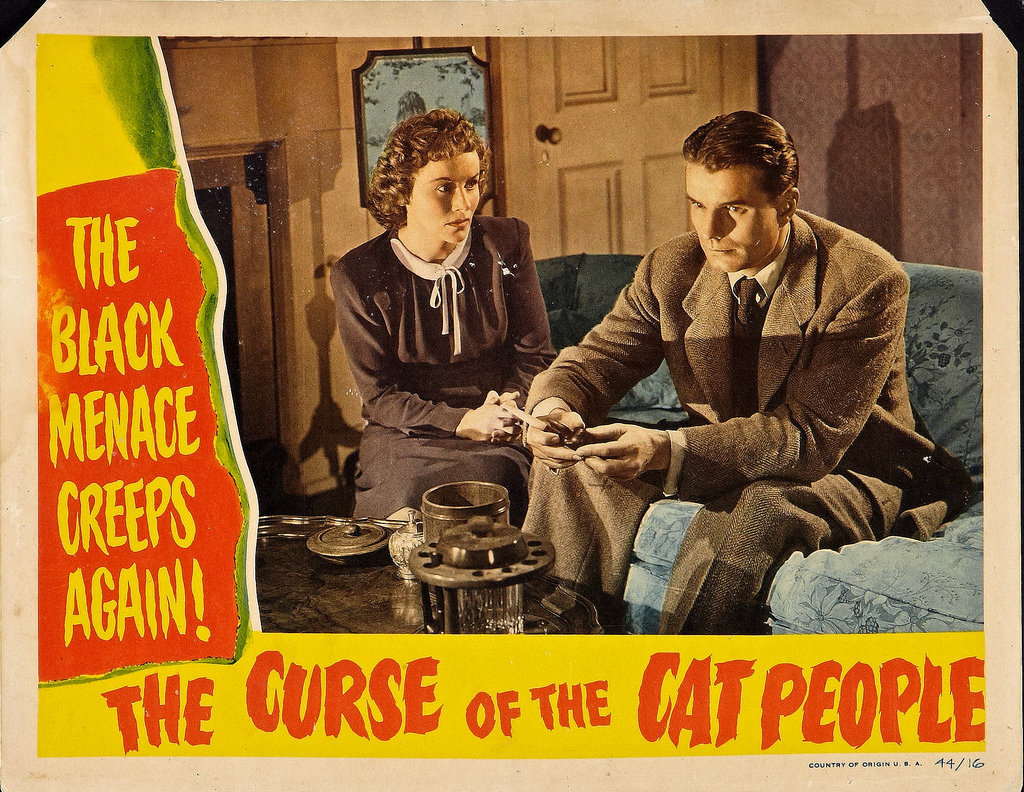Jane Randolph and Kent Smith in The Curse of the Cat People (1944)