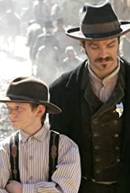 Timothy Olyphant and Josh Eriksson in Deadwood (2004)