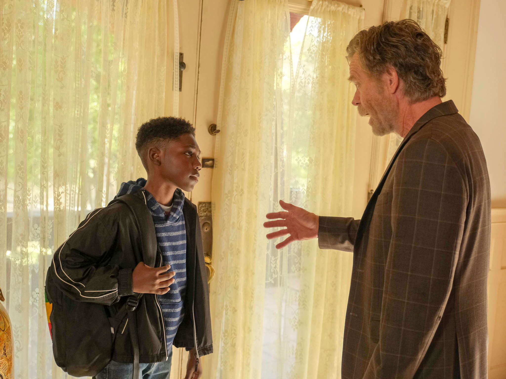 William H. Macy and Christian Isaiah in Location, Location, Location (2020)