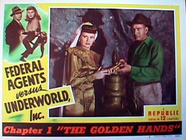Kirk Alyn, Roy Barcroft, Carol Forman, and Rosemary La Planche in Federal Agents vs. Underworld, Inc. (1949)