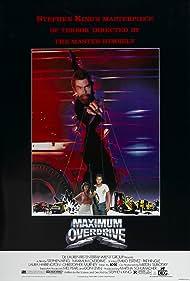 Stephen King, Emilio Estevez, and Laura Harrington in Maximum Overdrive (1986)