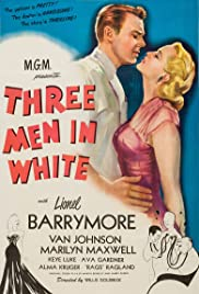 3 Men in White Poster
