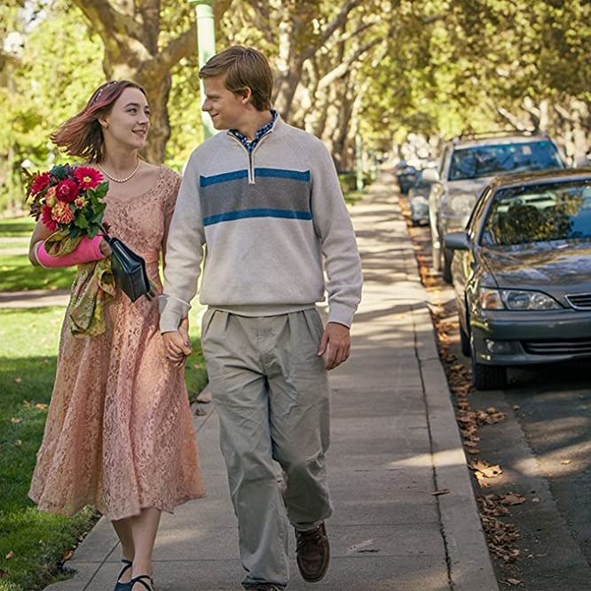 Saoirse Ronan and Lucas Hedges in Lady Bird (2017)