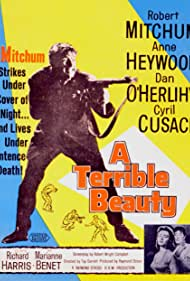 Robert Mitchum, Richard Harris, Marianne Benet, Cyril Cusack, Tay Garnett, Anne Heywood, and Dan O'Herlihy in A Terrible Beauty (1960)
