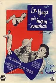 Hasse Ekman, Lauritz Falk, Eva Henning, and Sonja Wigert in En fluga gör ingen sommar (1947)