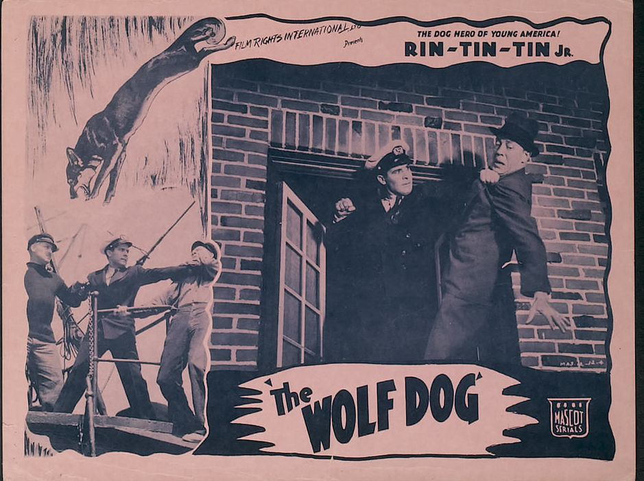 Tom London and George J. Lewis in The Wolf Dog (1933)