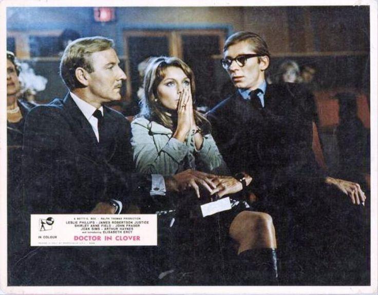 Shirley Anne Field, John Fraser, and Leslie Phillips in Doctor in Clover (1966)