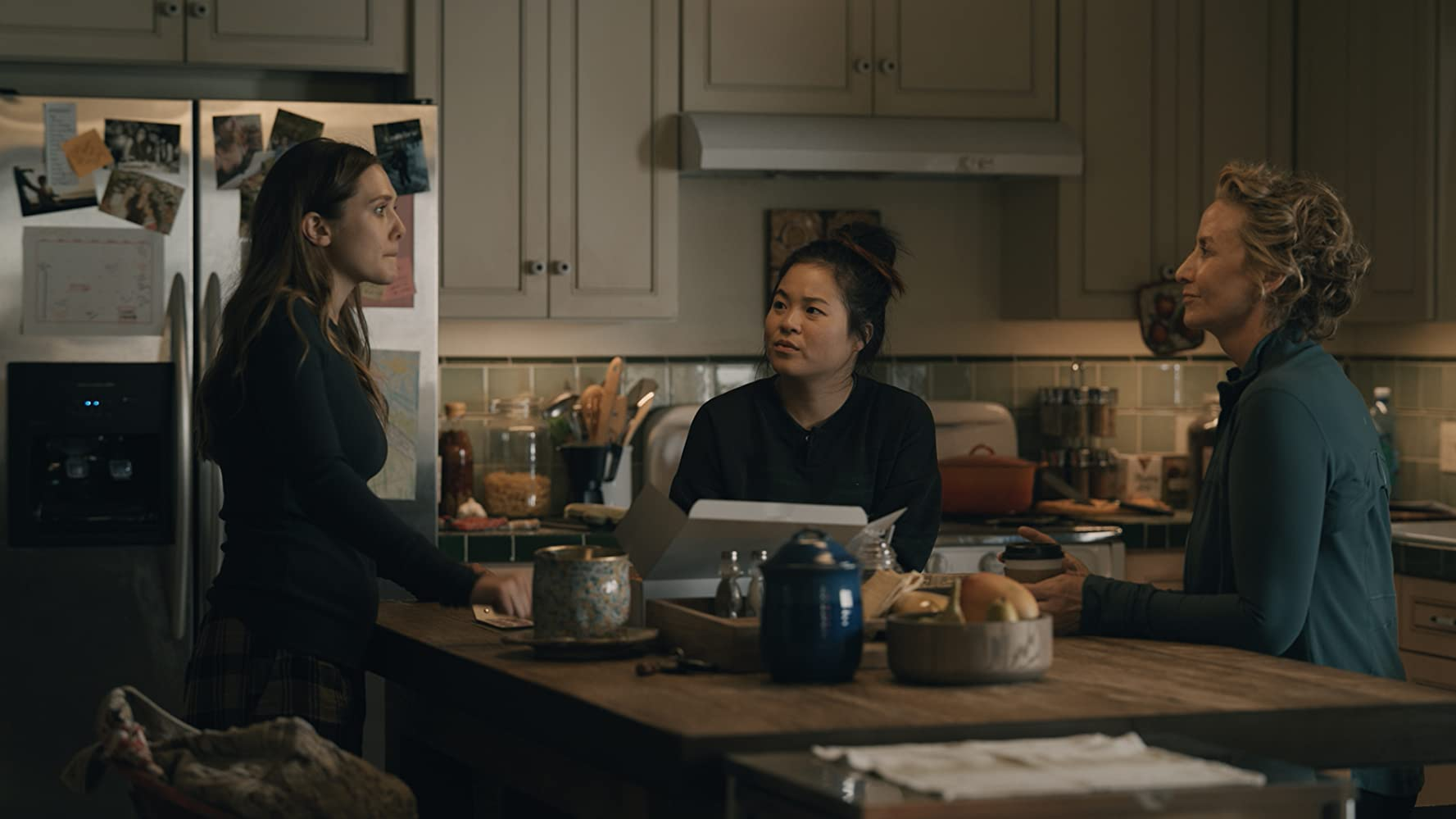 Janet McTeer, Elizabeth Olsen, and Kelly Marie Tran in Sorry for Your Loss (2018)