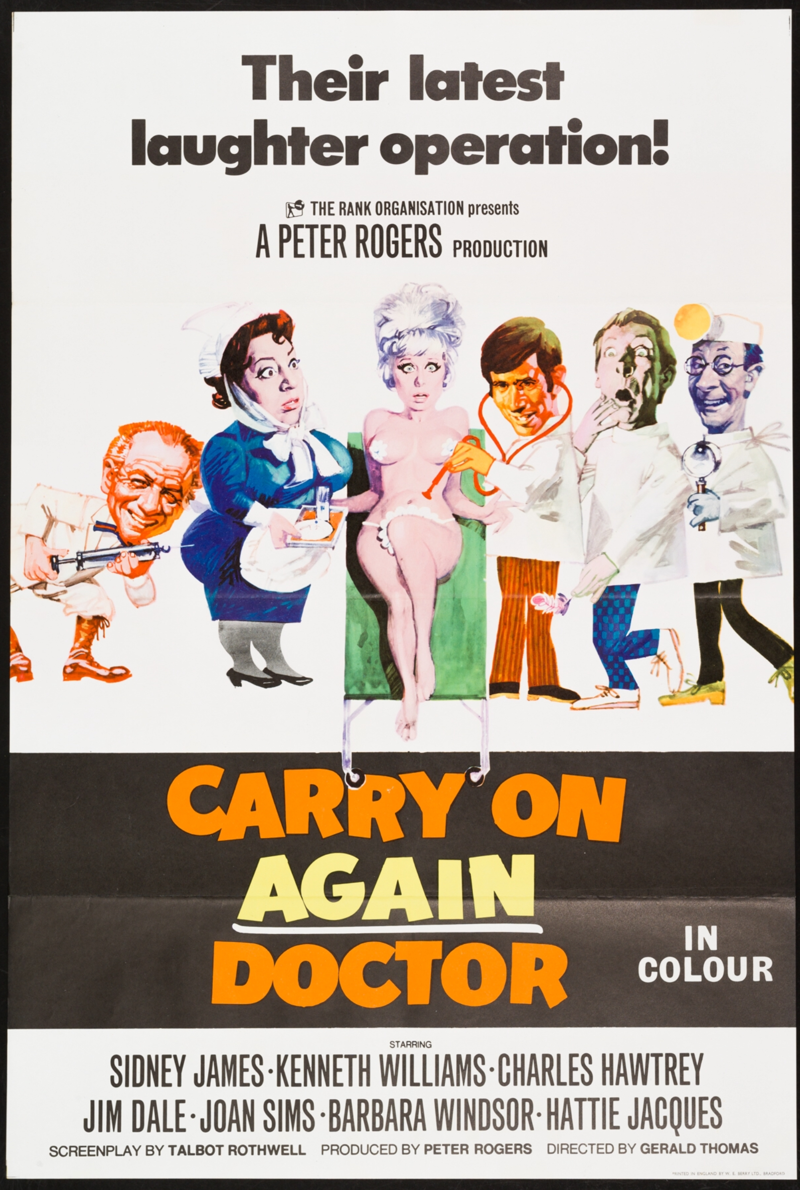 Kenneth Williams Barbara Windsor Carry On NEW Poster