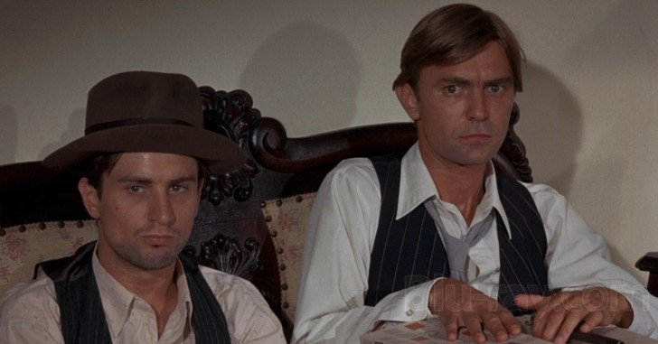 Robert De Niro and Clint Kimbrough in Bloody Mama 1970