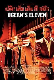 Brad Pitt, George Clooney, Julia Roberts, Matt Damon, and Andy Garcia in Ocean's Eleven (2001)