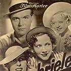 Gustav Fröhlich, Marianne Hoppe, Tatjana Sais, and Grethe Weiser in Gabriele: eins, zwei, drei (1937)
