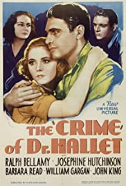 The Crime of Doctor Hallet Poster