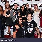 Alexis Iacono, Noah Dahl, Brandon Slagle, Devanny Pinn, Jessica Cameron, Britt Griffith, Patrick W. Henry, Tori Rachael, Gabrielle Benson, and Holly Griffith at an event for The Black Dahlia Haunting (2012)