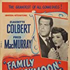 Claudette Colbert and Fred MacMurray in Family Honeymoon (1948)
