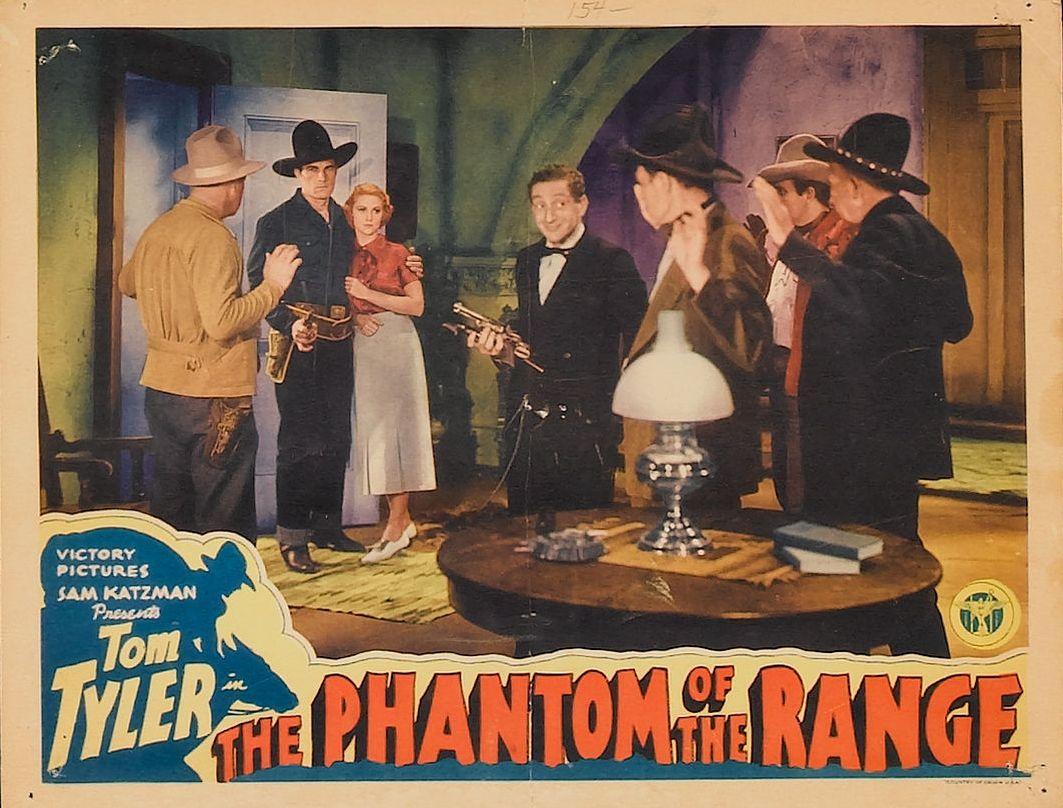 Sammy Cohen, John Elliott, Beth Marion, Bud Pope, and Tom Tyler in The Phantom of the Range (1936)