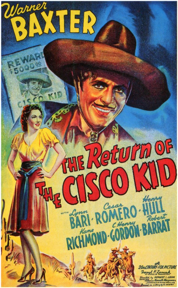 Lynn Bari and Warner Baxter in The Return of the Cisco Kid (1939)