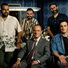Javier Gutiérrez, Cristóbal Garrido, Carlos Therón, Adolfo Valor, and Miki Esparbé in Reyes de la noche (2021)