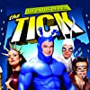 Nestor Carbonell, David Burke, Liz Vassey, and Patrick Warburton in The Tick (2001)