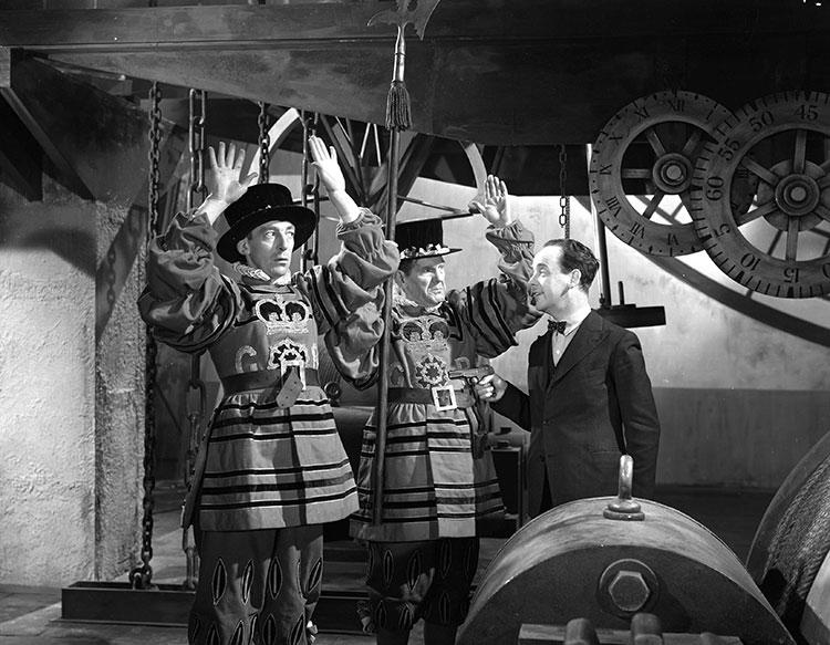 Will Hay, Claude Hulbert, and Mervyn Johns in My Learned Friend (1943)