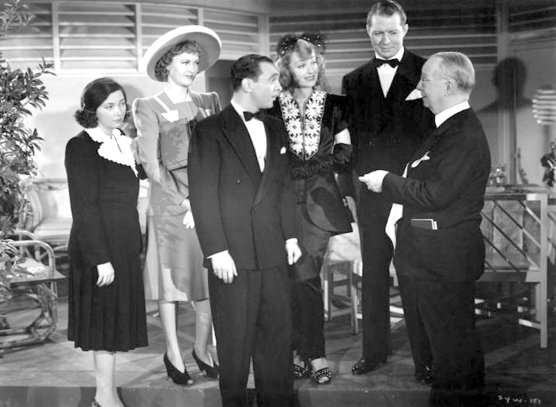 Harry C. Bradley, Morgan Conway, June Havoc, Patsy Kelly, Bert Lahr, Sam Levene, and Dorothy Lovett in Sing Your Worries Away (1942)