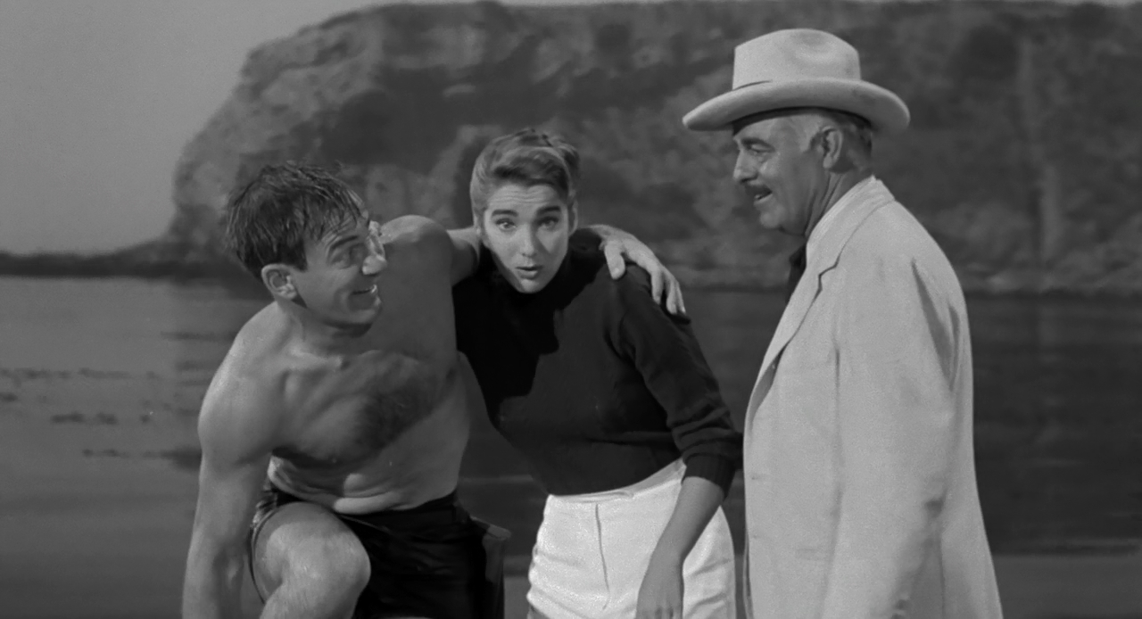 Julie Adams, Richard Carlson, and Antonio Moreno in Creature from the Black Lagoon (1954)