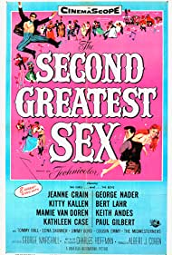 Jeanne Crain and George Nader in The Second Greatest Sex (1955)