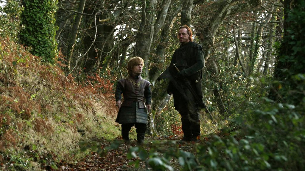 Peter Dinklage and Jerome Flynn in Game of Thrones (2011)
