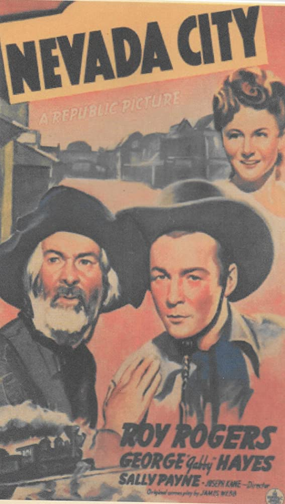 Roy Rogers, George 'Gabby' Hayes, and Sally Payne in Nevada City (1941)