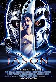 Lexa Doig and Kane Hodder in Jason X (2001)