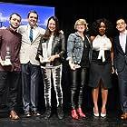 Felix Thompson, Josh Welsh, Elizabeth Chai Vasarhelyi, Mel Eslyn, Uzo Aduba, Rami Malek at the Film Independent Spirit Awards Brunch