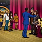 Peter MacNicol, Wayne Brady, Mindy Cohn, Grey Griffin, Candi Milo, Frank Welker, Troy Baker, Cristina Pucelli, Ariel Winter, and Isabella Acres in Scooby-Doo! Stage Fright (2013)