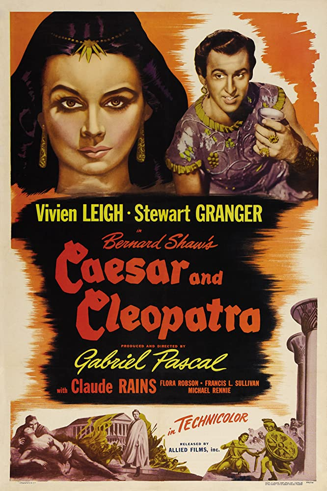 Vivien Leigh and Stewart Granger in Caesar and Cleopatra (1945)