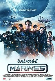 Casper Van Dien, Peter Shinkoda, Kevin Porter, Linara Washington, Eddie Davenport, and Jennifer Wenger in Salvage Marines